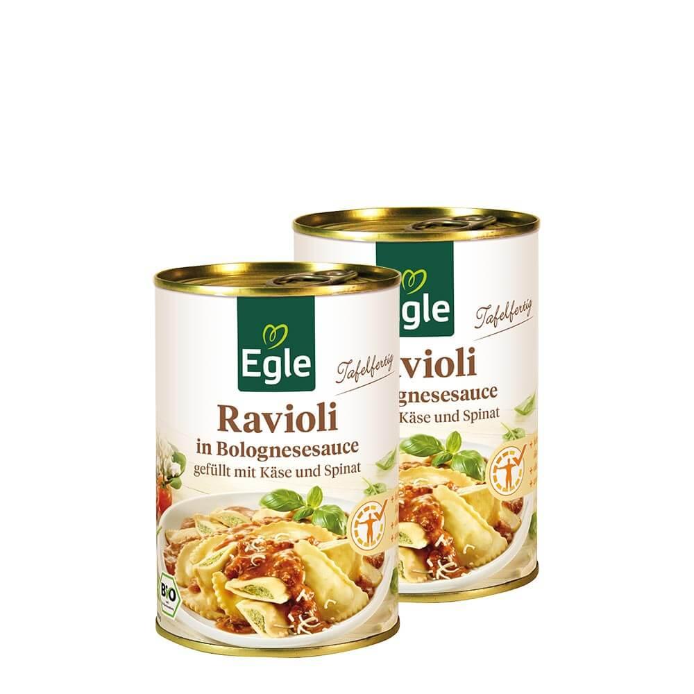 Bio Ravioli in Bolognesesauce 400 g – Doppelpack