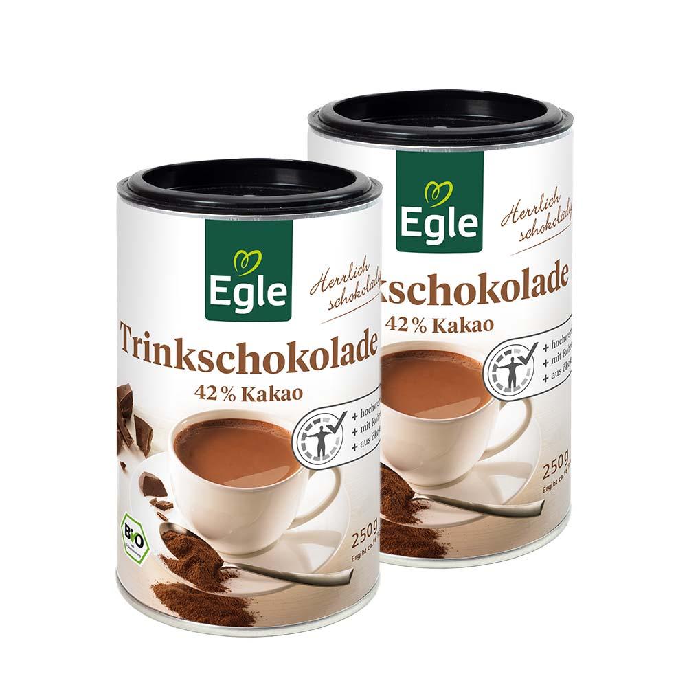 Bio Trinkschokolade 2 x 250 g – Aktions-Angebot