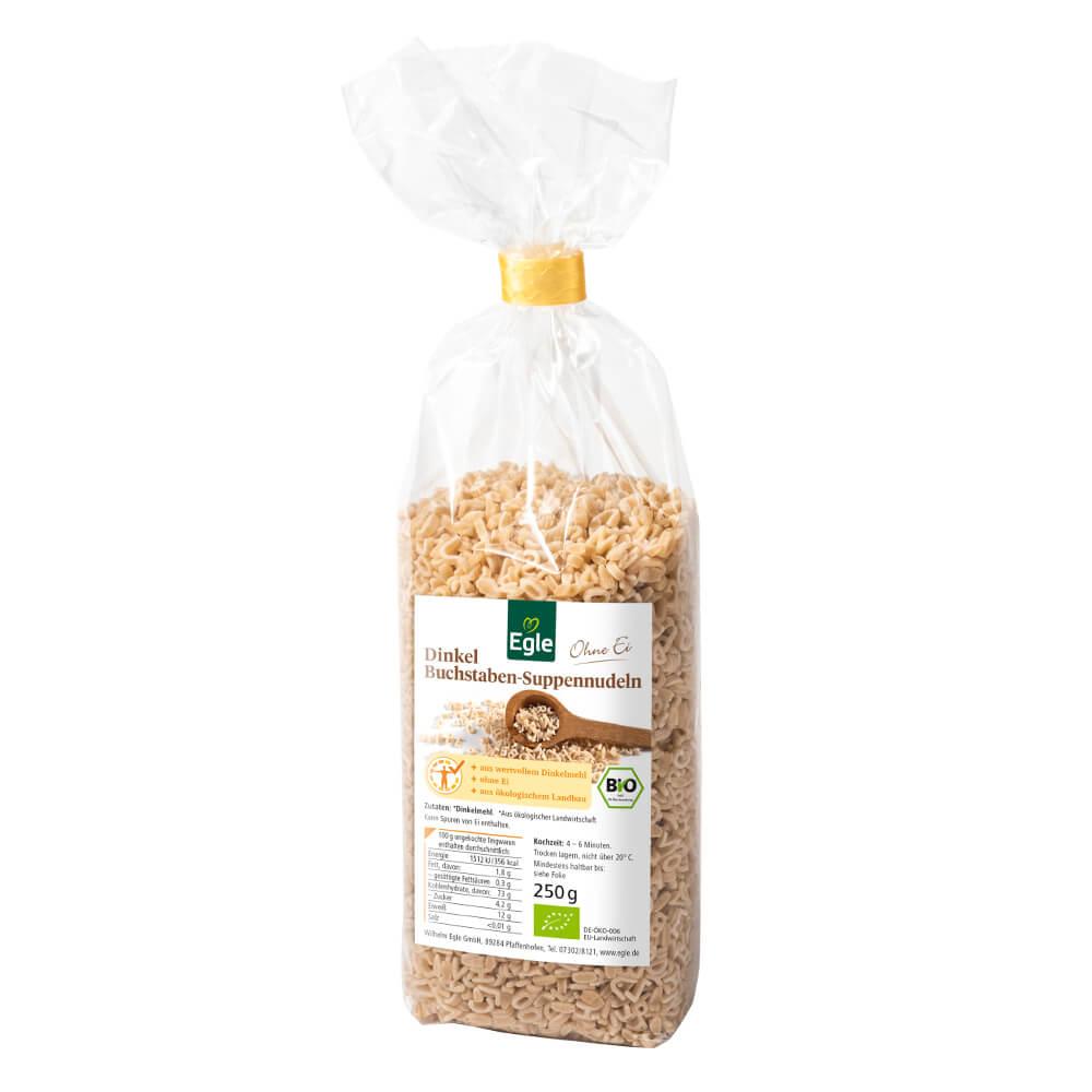 Bio Dinkel Buchstaben-Suppennudeln 250 g