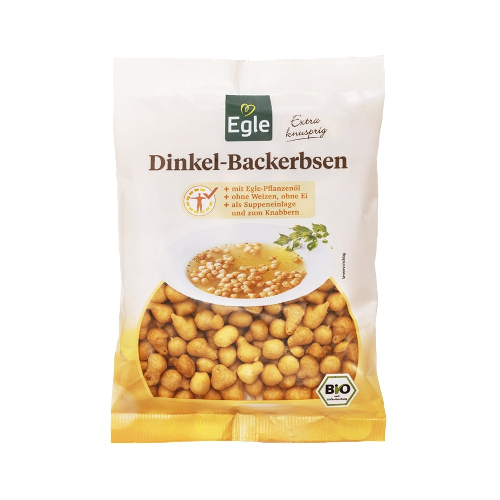 Bio Dinkel-Backerbsen 100 g - Kostprobe