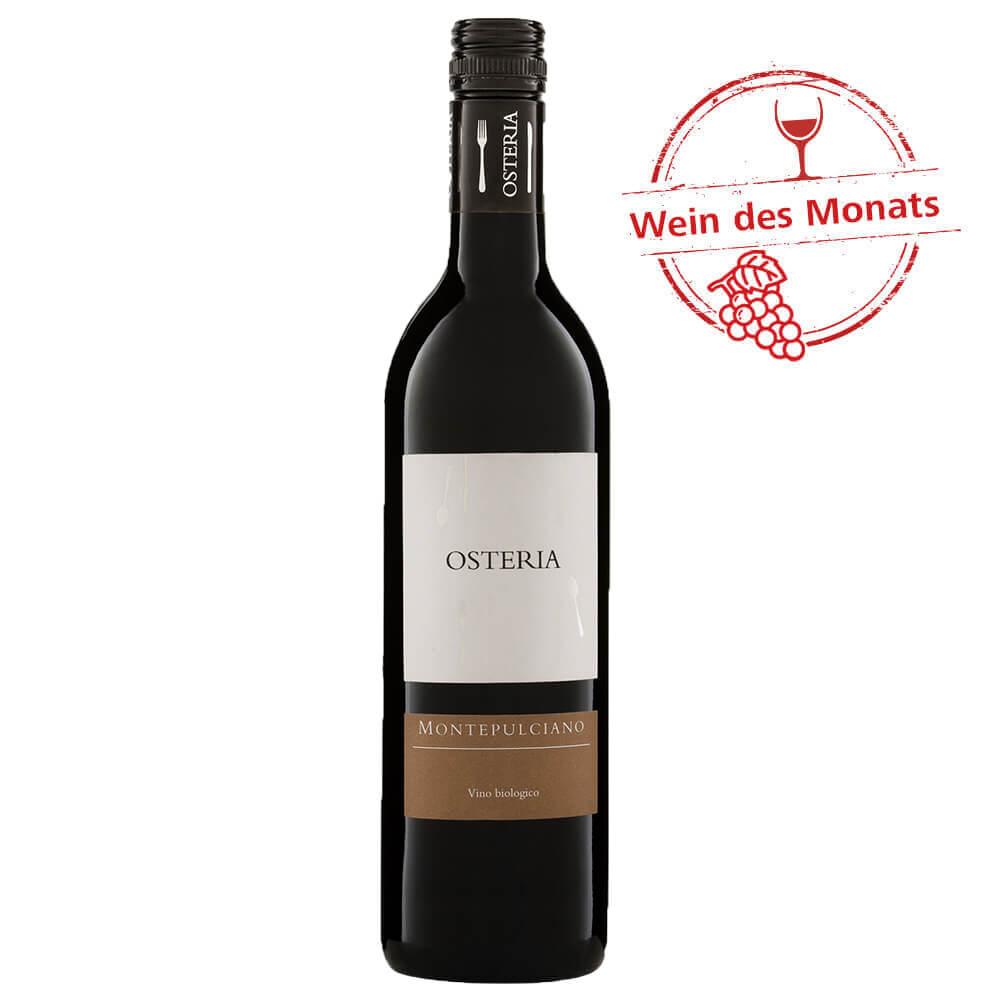 Osteria Montepulciano DOC - Bio Rotwein aus Italien 0,75 l