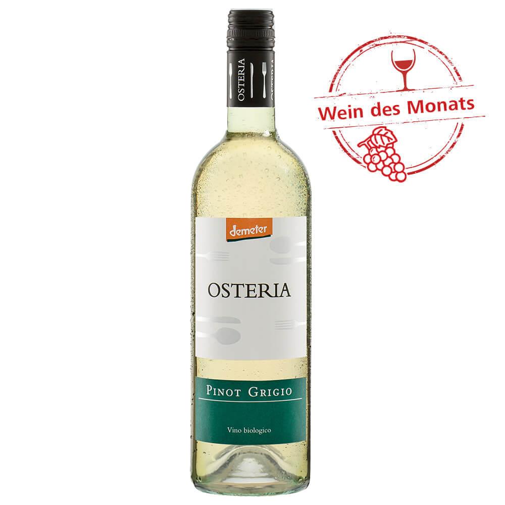 Wein des Monats: Osteria Bio Pinot Grigio, 0,75 l