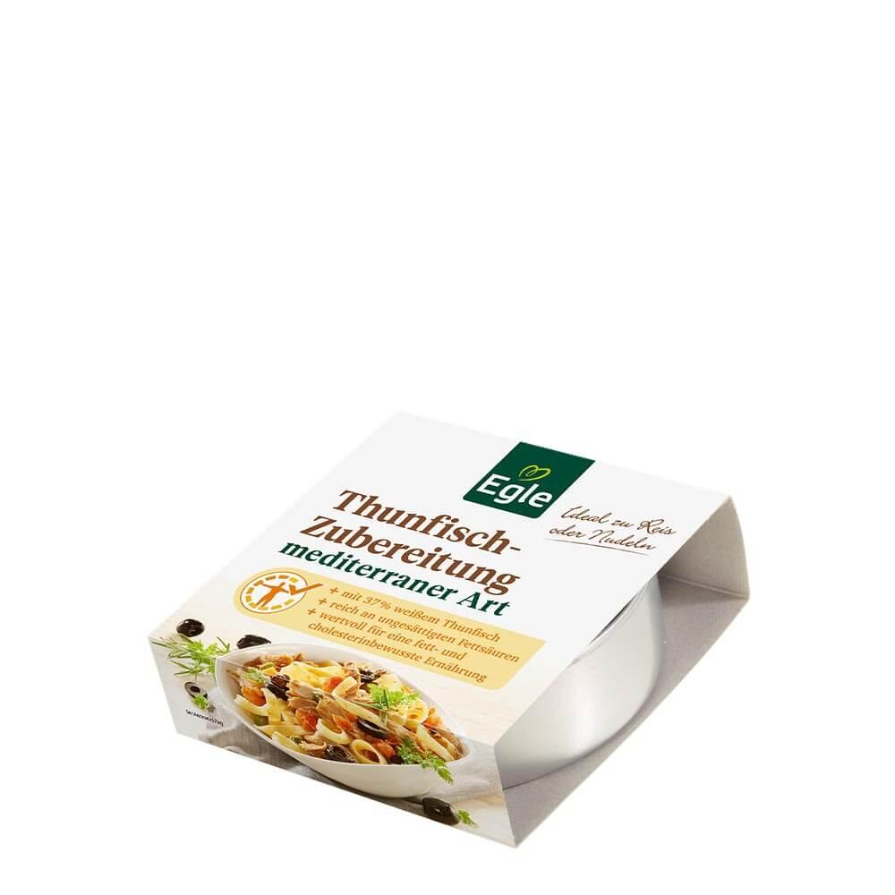 Thunfisch-Zubereitung mediterran 190 g – Kostprobe