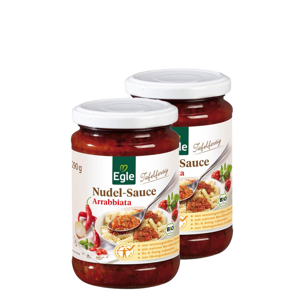 Bio Nudel-Sauce Arrabbiata 2 x 290 g
