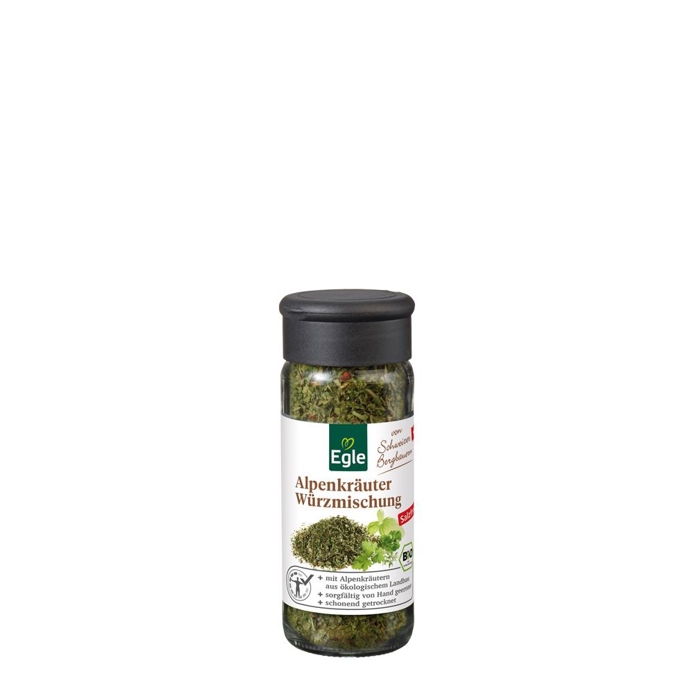 Bio Schweizer Alpenkräuter-Würzmischung - ohne Salz 12 g