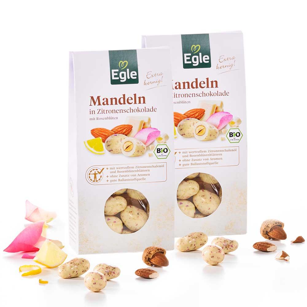 Bio Mandeln in Zitronenschokolade 2 x 90 g