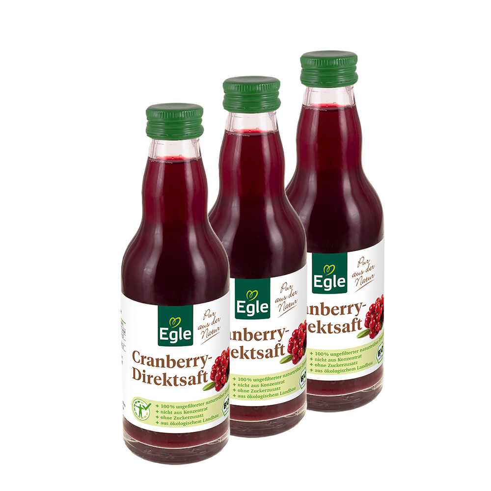 Bio Cranberrysaft 3 x 200 ml - Aktion