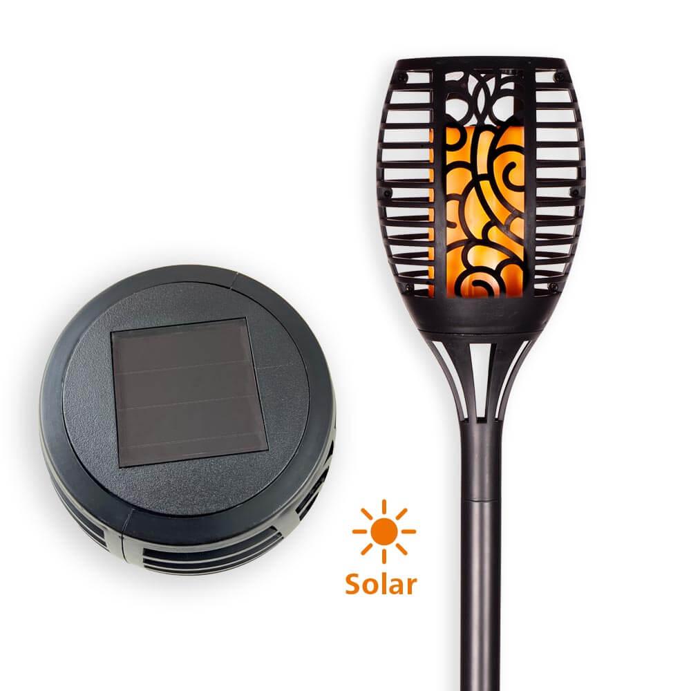 LED Solar-Fackel mit Erdspieß