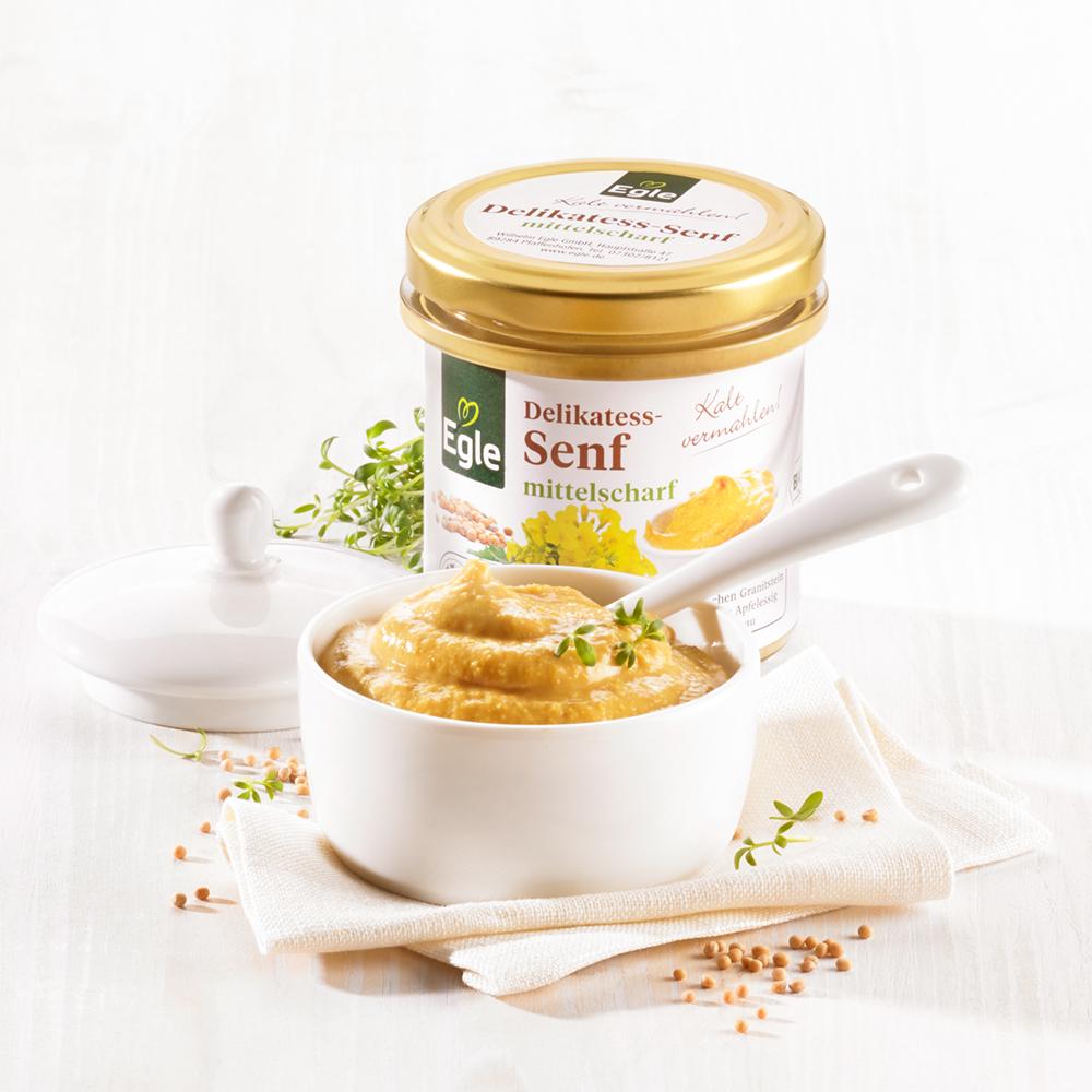 Bio Delikatess-Senf mittelscharf 2 x 150 ml
