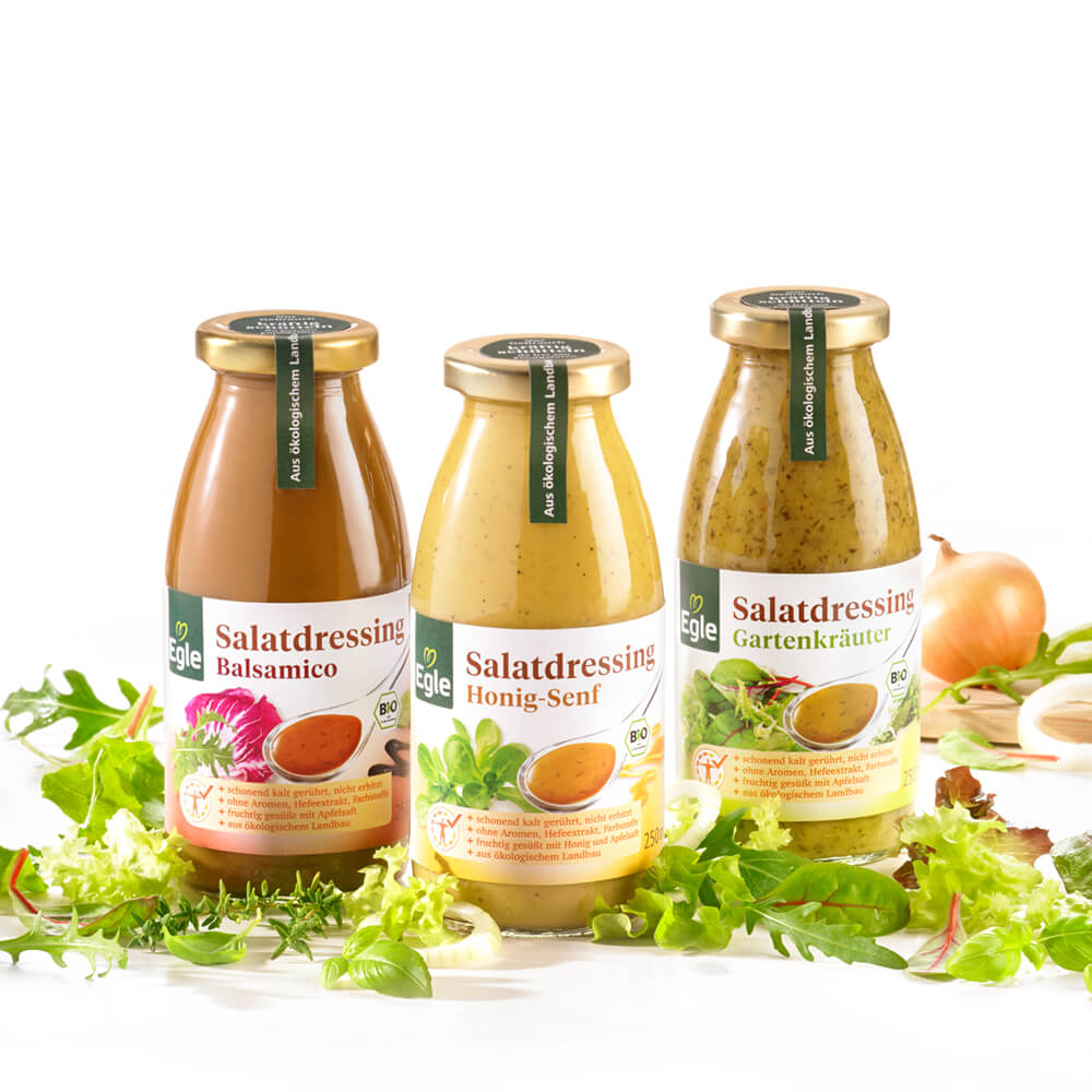 Bio Salatdressing-Paket, 3 x 250 ml