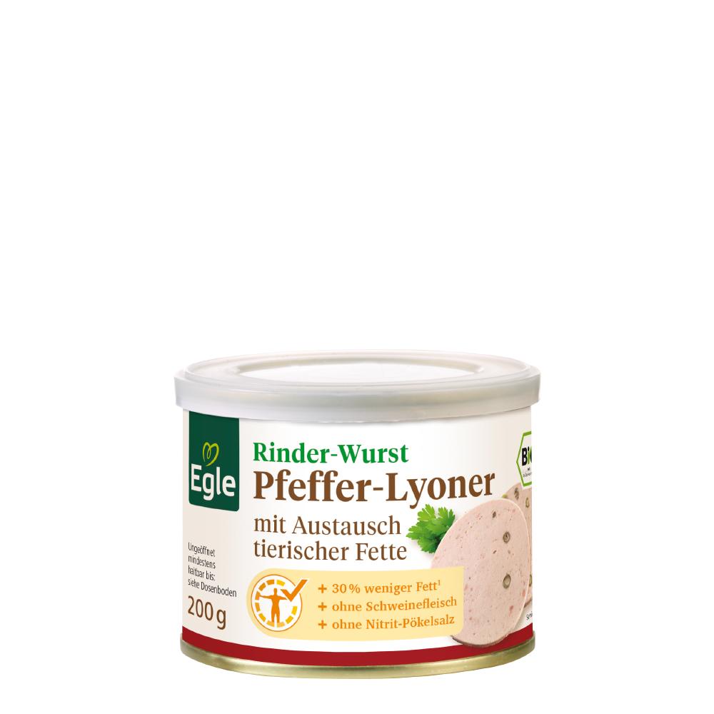 Bio Rinder Pfeffer-Lyoner 200 g