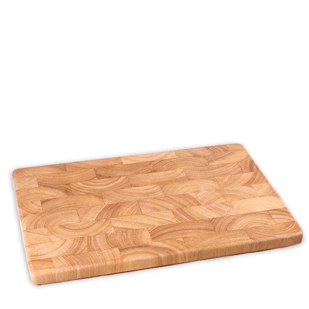Holz-Schneidebretter aus Gummibaum-Stirnholz, groß