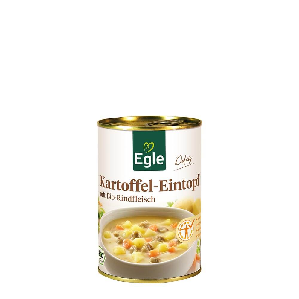 Bio Kartoffel-Eintopf mit Rindfleisch 400 g