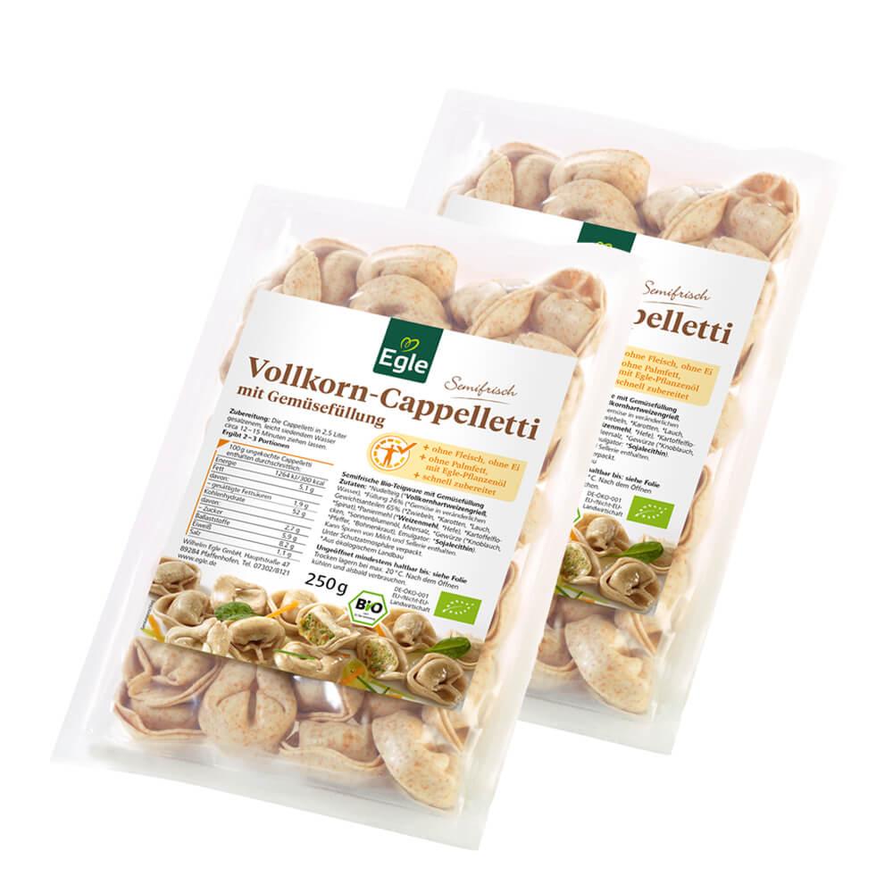 Bio Vollkorn Cappelletti mit Gemüsefüllung 2 x 250 g – zum Aktionspreis