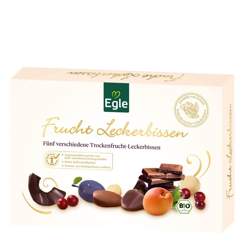 Bio Trockenfrucht-Leckerbissen in Schokolade 200 g