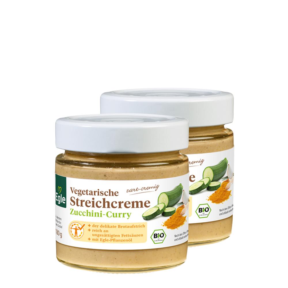 Vegetarische Bio Streichcreme Zucchini-Curry 2 x 180 g