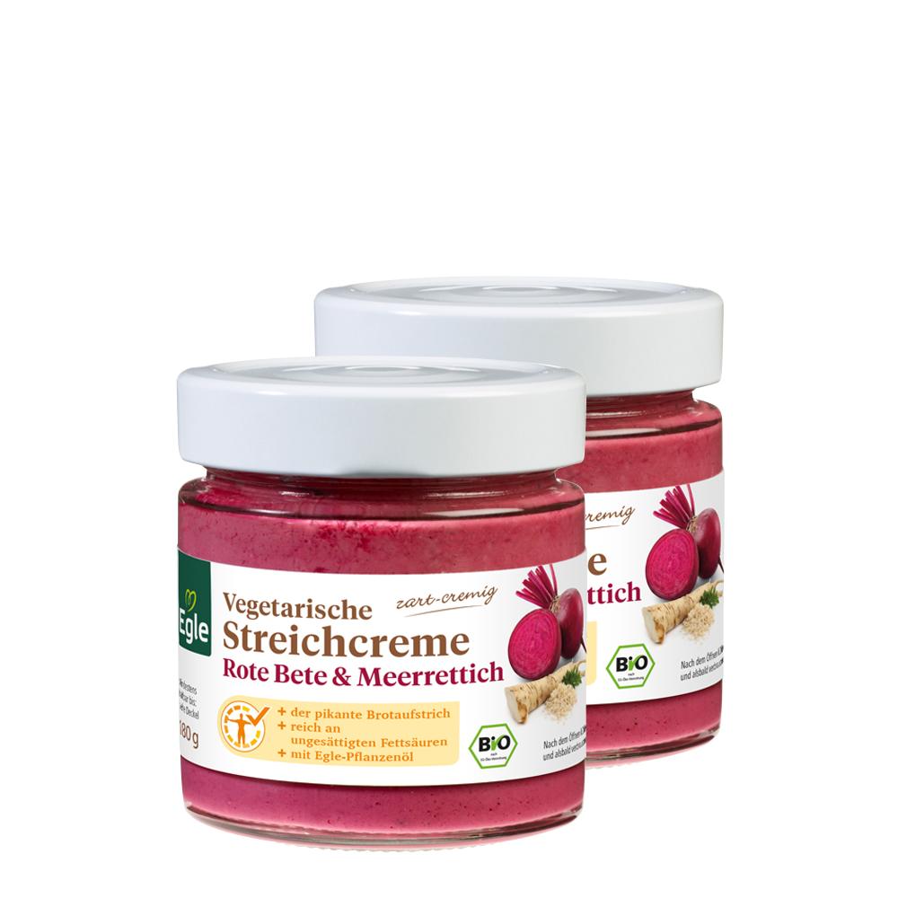 Vegetarische Bio Streichcreme Rote Bete und Meerrettich 2 x 180 g