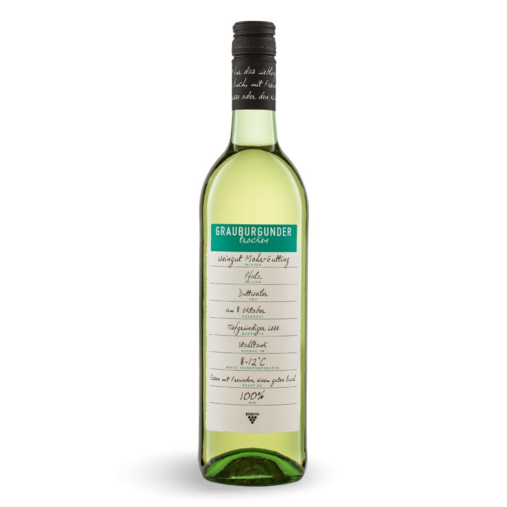 Grauburgunder - Bio Weißwein aus Deutschland 0,75 l