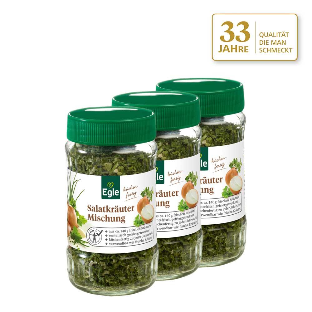 Salatkräuter-Mischung 3 x 20 g - Jubiläums Angebot
