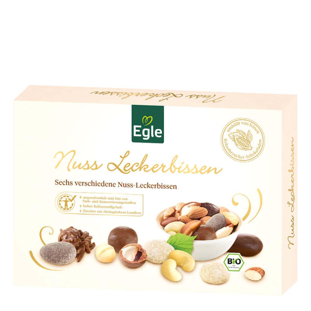 Bio Nussleckerbissen in Schokolade Kostprobe 200 g