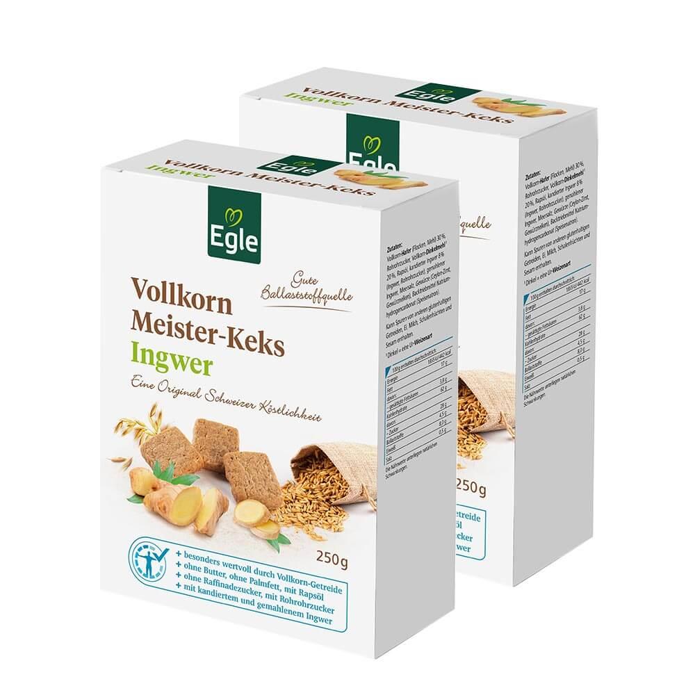 Vollkorn Meister-Keks Ingwer 2 x 250 g